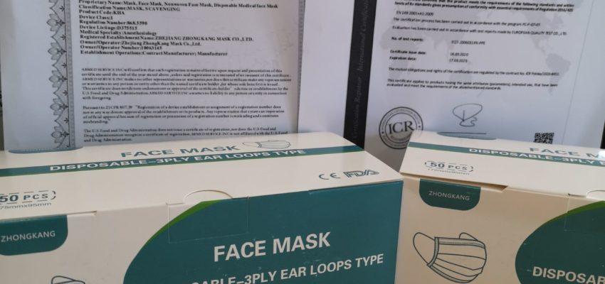 Spende Von 100 Mund Und Nasenmasken